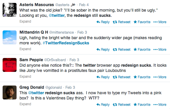 Twitter's bad redesign
