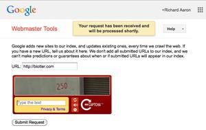 Search Engine Registration on Google