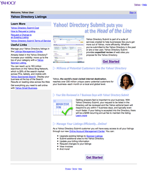 Search Engine Registration on Yahoo!