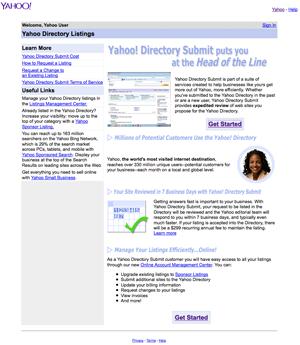 Search Engine Registration on Yahoo!