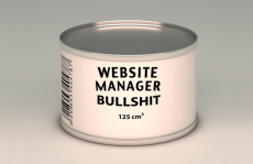 Website Manager Bullshit in a Can