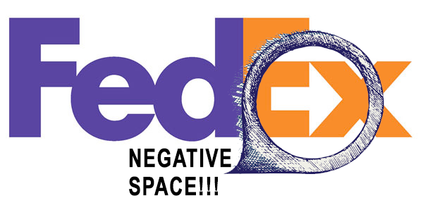 5 Steps to make a negative space logo like FedEx