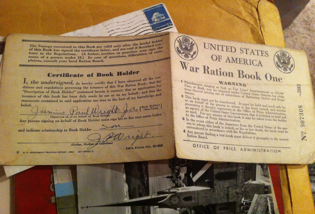 World War II Ration Book from Greenville, South Carolina
