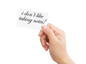 Note Cards for Increasing Productivity