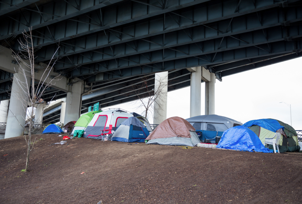 Tent City in Greenville, SC